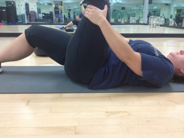 Supine Hips Flat Good