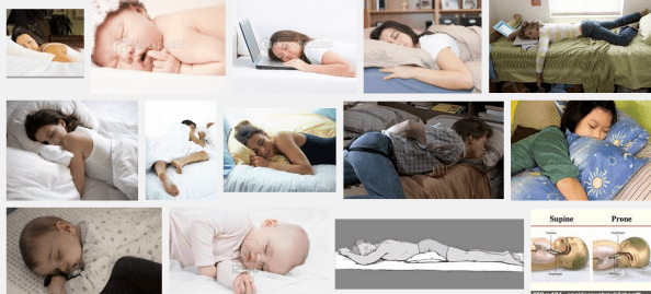 Stomach sleeping collage