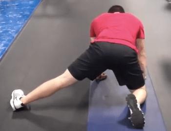 Split Stance Adductor Stretch