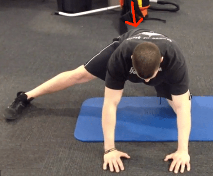 Split Stance Adductor with arrow 2