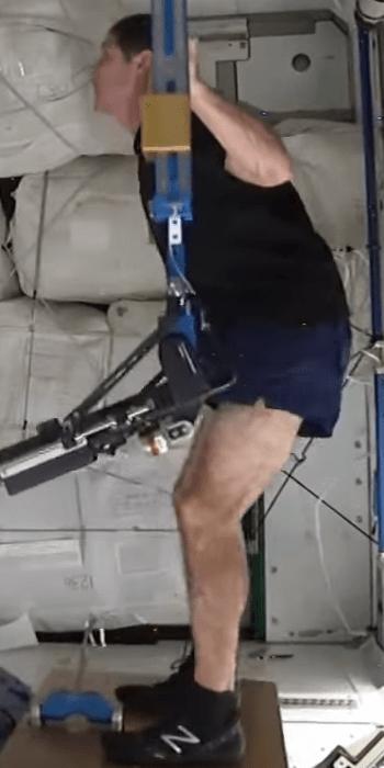 Astronaut Squatting