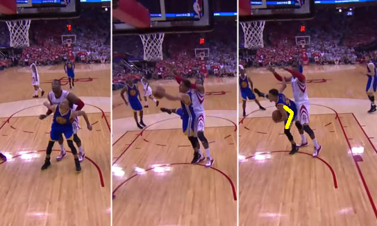 steph curry rebound dwight howard with line