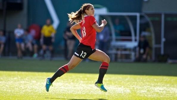 Alex Morgan Running