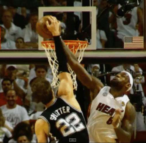 Lebron James Tiago Splitter Block