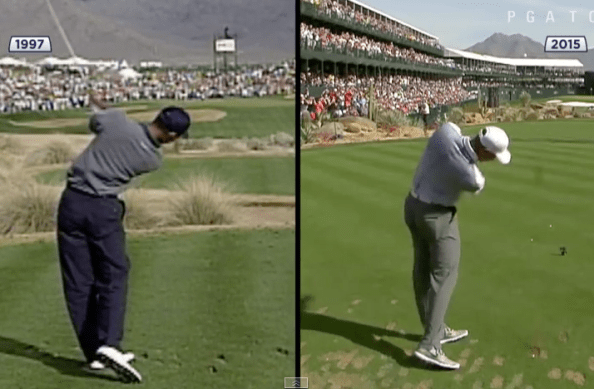 Tiger Woods swing comparison