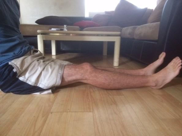 Leg extension one knee bent