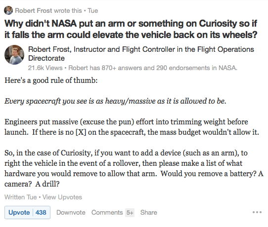 From Robert Frost at Quora.com