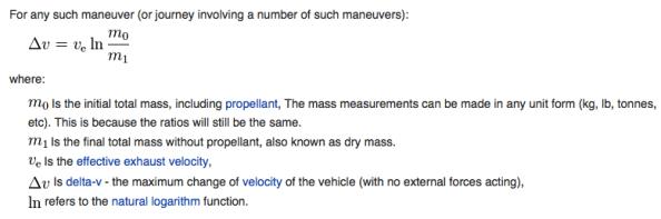 Rocket Equation