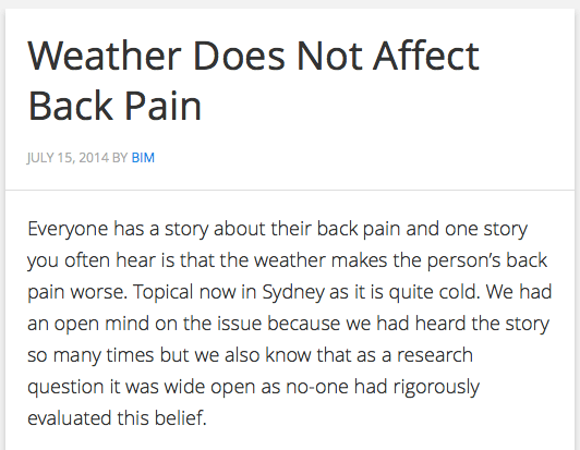 Weather back pain BodyInMind