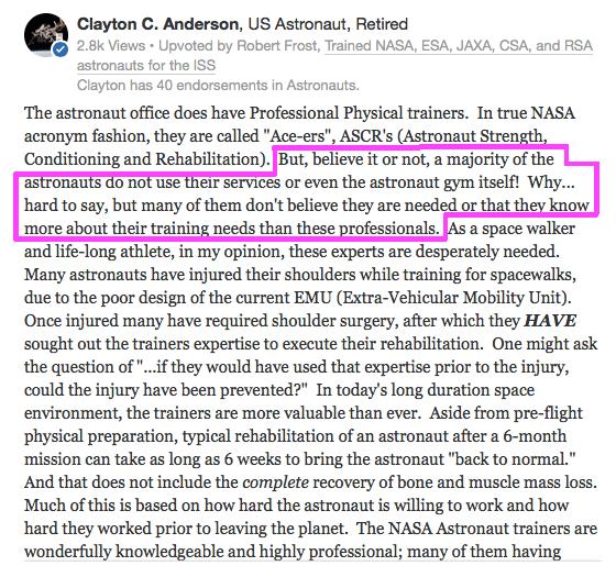 Clayton Anderson astronaut training 1
