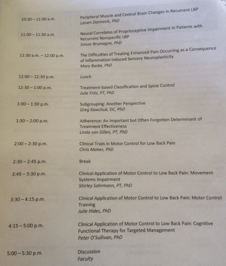 State of the art NASS conference 2