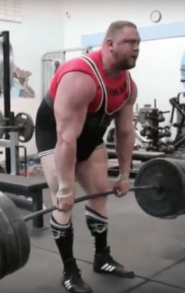 Heavy deadlift shoulder laxity