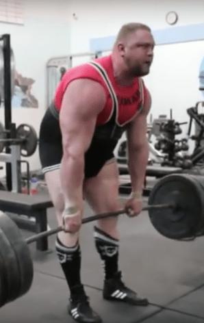 Heavy deadlift shoulder laxity