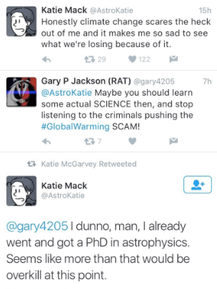 astrophysics climate change twitter