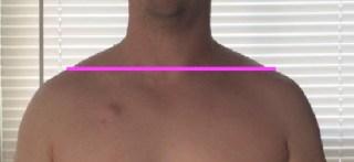 Jason S shoulder height after