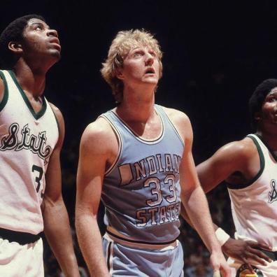Magic Johnson-Larry Bird, finale NCAA 1979, Michigan State-Indiana (c) SI