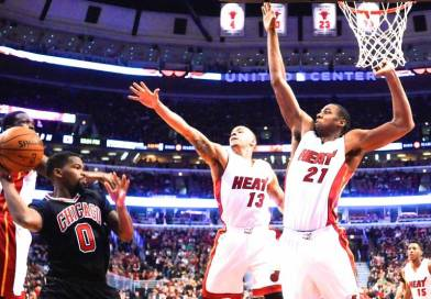 Hassan Whiteside, son triple-double à 12 contres face aux Bulls en 2015
