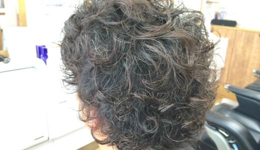 固め多めな髪へ