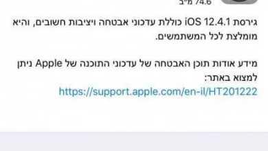Photo of אפל שחררה עדכון אבטחה iOS 12.4.1 – חסימת הפריצה