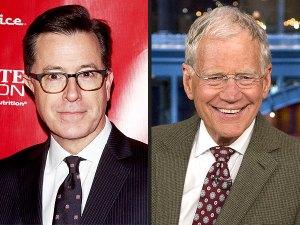 Stephen Colbert David LEtterman