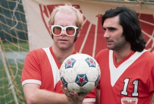 Singer Elton John and Soccer Player George Best