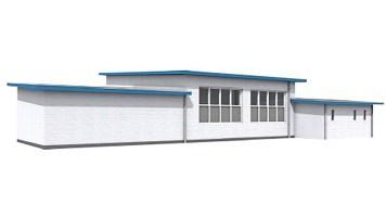 achterzijde garage (bestaande situatie)