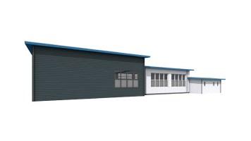 achterzijde garage (nieuwe situatie)