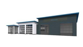 voorzijde garage (nieuwe situatie)