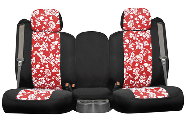 hawaiian chair covers rosette seat designs neosupreme for cars trucks suvs red 2tone