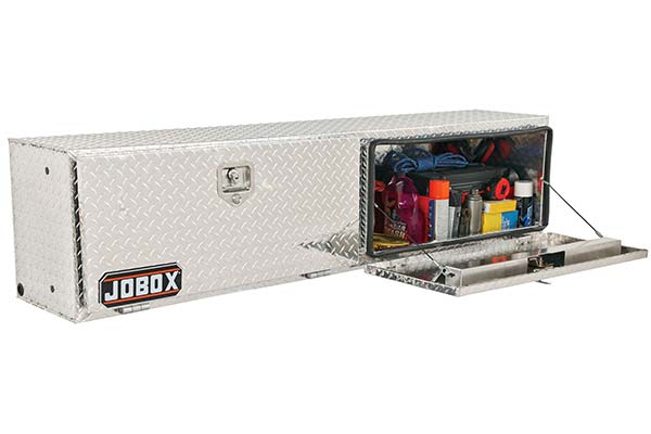 JOBOX Aluminum Topside Tool Box Top Mount Tool Storage