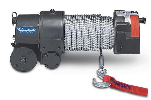 Ramsey Re 12000 Winch With 12 Ft Wire Pendant Remote Quadratec
