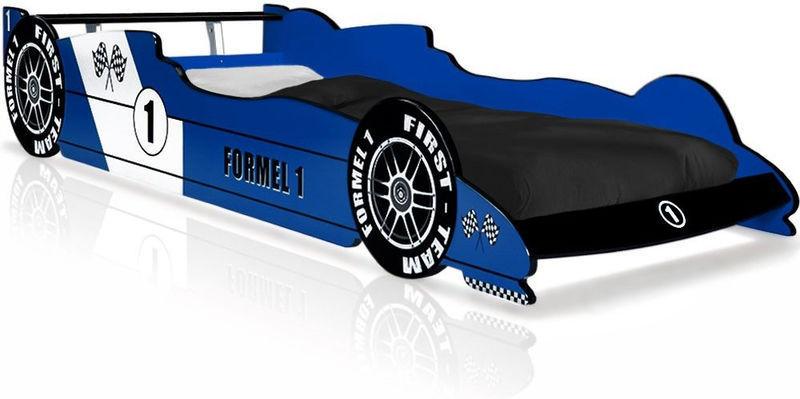 lit enfant voiture formule 1 bleu 90 x