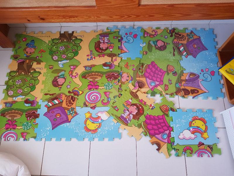 tapis de sol puzzle motricite bebe