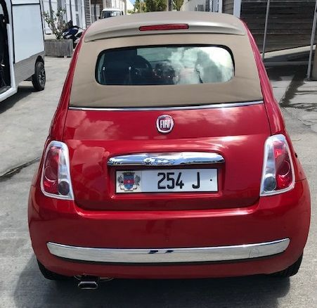 fiat 500 convertible red