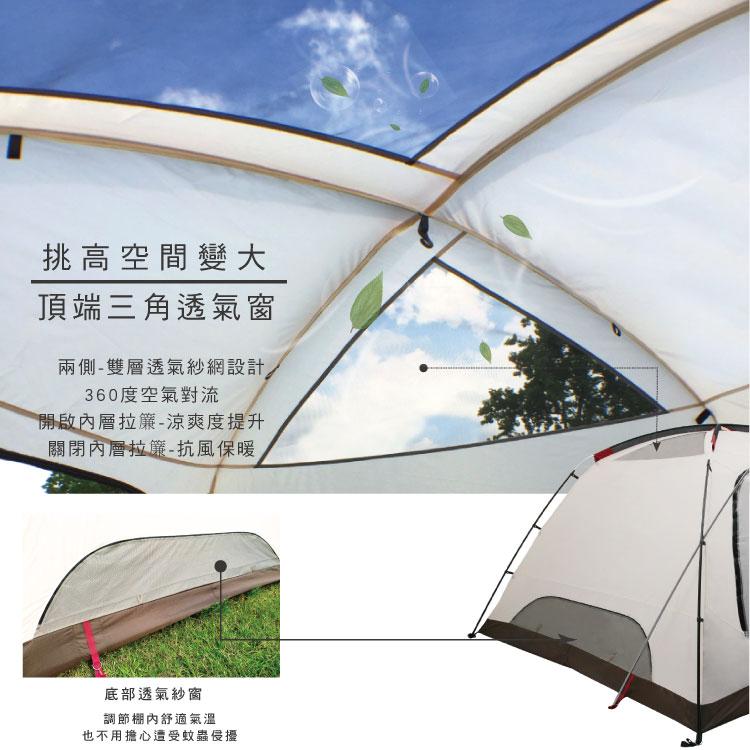 【OutdoorBase】彩繪天空SP 270 4-6人帳篷(耐水壓抗UV帳篷 coleman氣候達人帳篷加強版) - PChome 24h購物
