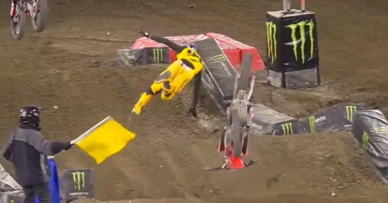 NASCAR drivers react to Ken Roczen's nasty Supercross crash | FOX Sports