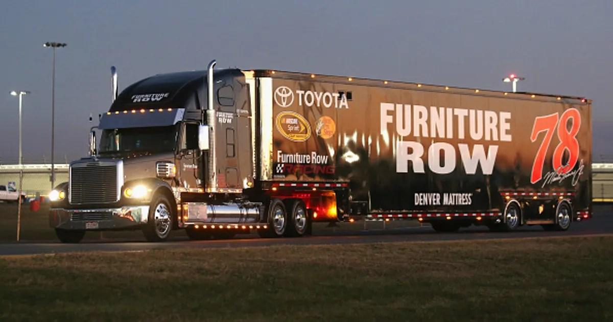 Furniture Row Racing Hauler Suffers Damage In Hit And Run
