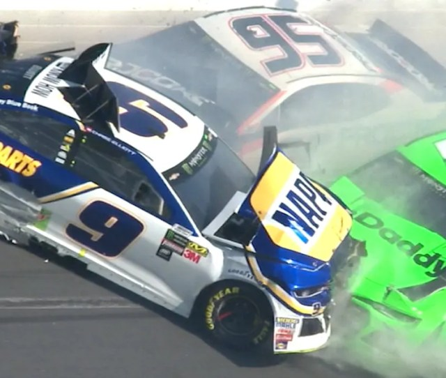 Danica Patricks Nascar Career Ends In Violent Crash That Collects Chase Elliott As Well  Fox Sports
