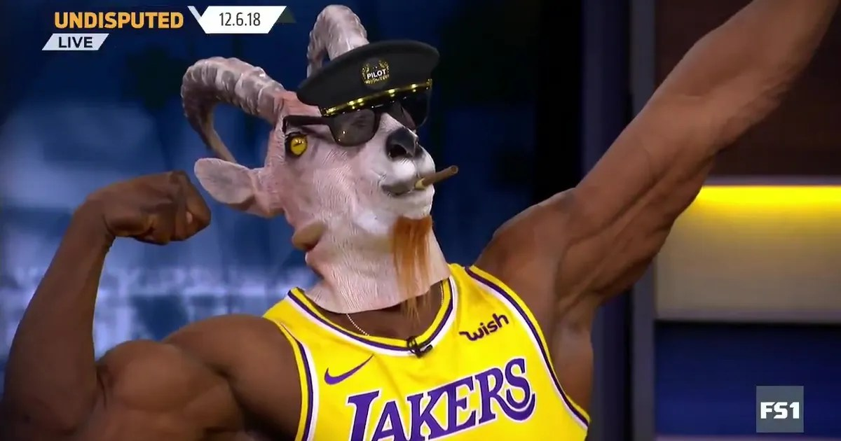 Shannon Sharpe Busted Out The Goat Mask And LeBron Jersey After The Kings Big Game For The