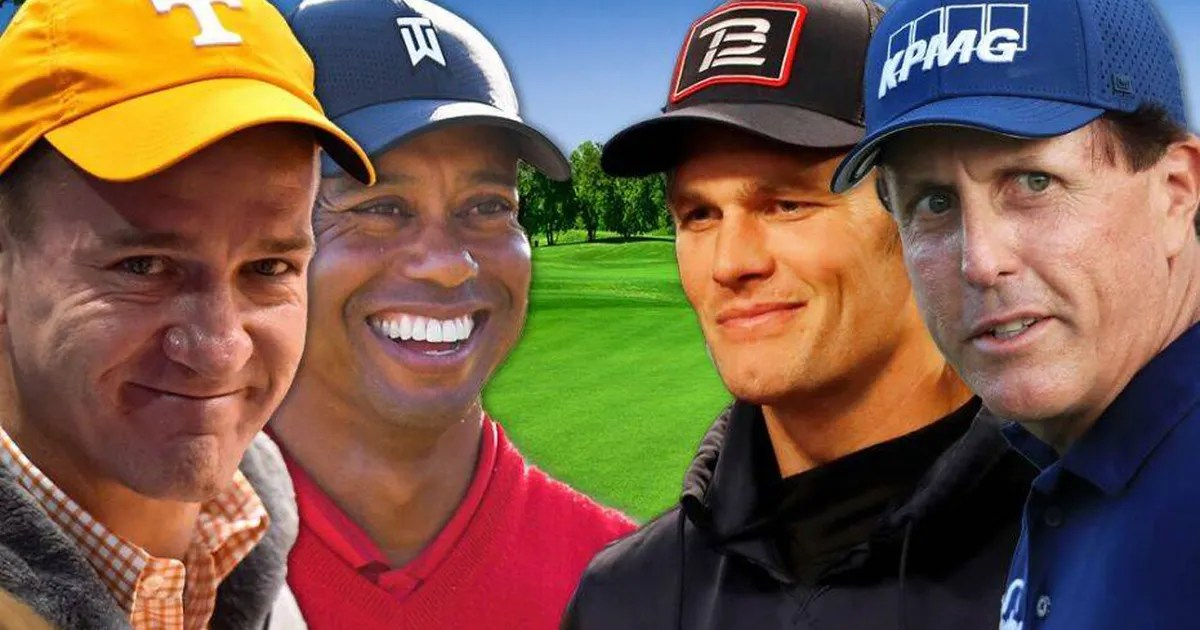 """The one thing """"The Match"""" needs is epic trash talk from Tiger, Peyton, Phil and Tom thumbnail"""