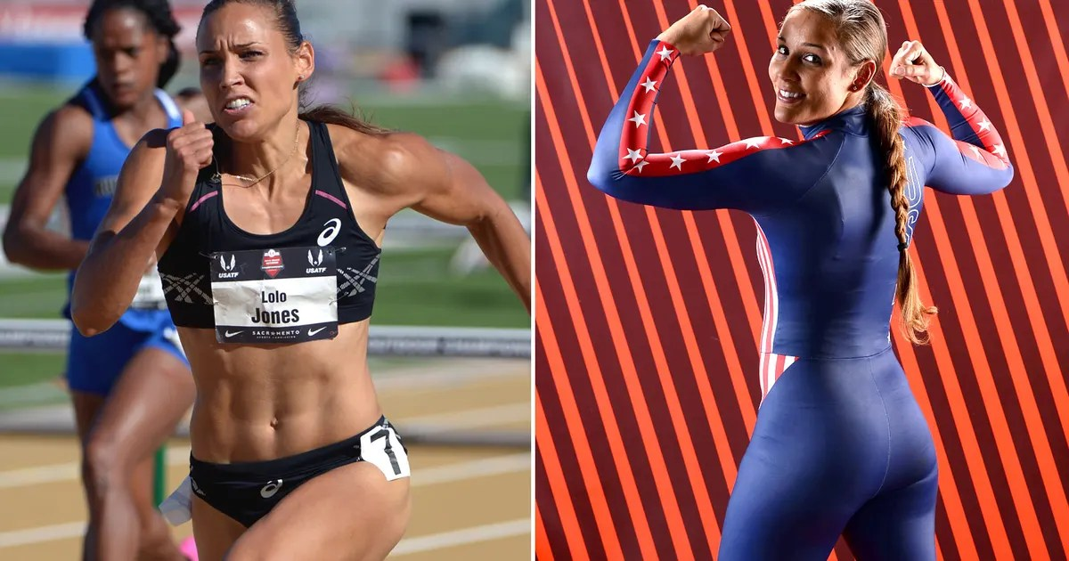 No Butts About It Olympic Track Star Lolo Jones Misses