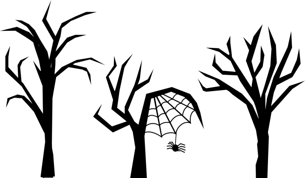 medium resolution of tree download drawing haunted house forest