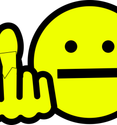 smiley emoticon computer icons middle finger [ 1119 x 750 Pixel ]