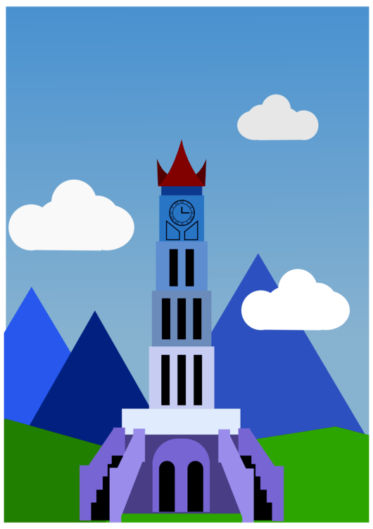 Rumah Gadang Vector Png : rumah, gadang, vector, Rocket,Spire,Sky, Clipart, Royalty