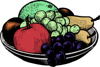 Bowl Black&White Fruit Food Tableware free commercial