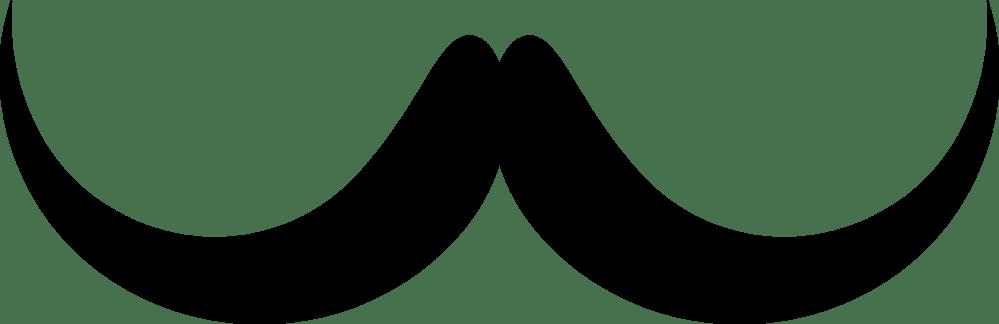 medium resolution of handlebar moustache silhouette brown hair beard