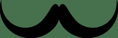 small resolution of handlebar moustache silhouette brown hair beard