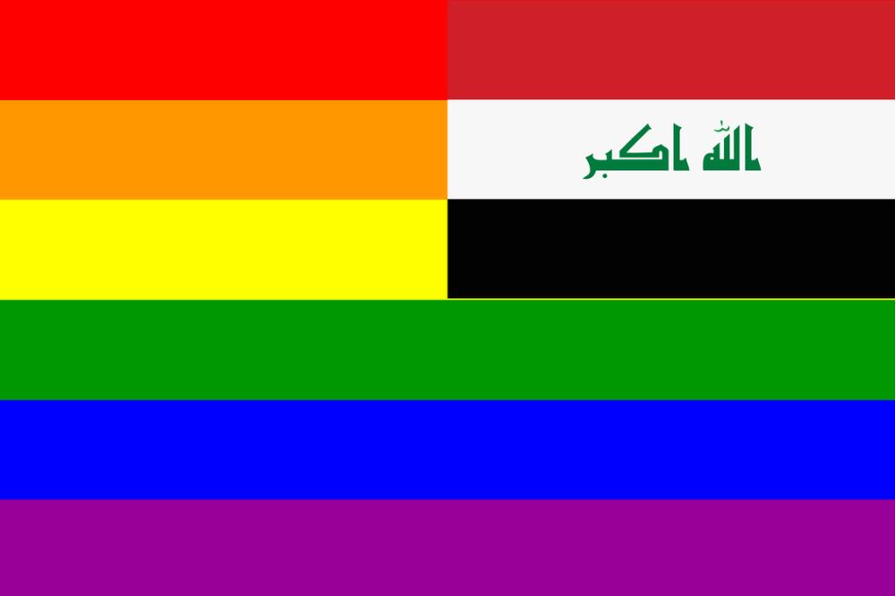 medium resolution of flag of iraq rainbow flag homosexuality