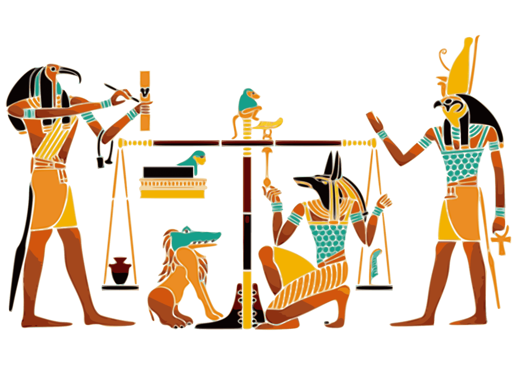 hight resolution of ancient egyptian religion anubis maat duat