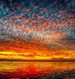 sky sunset landscape painting cloud dawn [ 1134 x 750 Pixel ]